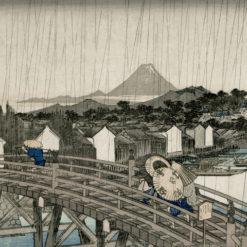 Fototapeta Sandberg Arkiv Hiroshiges regnskyar SG609-09
