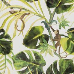 Tapeta Clarke and Clarke Colony W0083/04 Monkey Business Natural