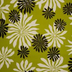 """Tapeta """"Kwiaty Retro"""" w kolorze zielonym"""