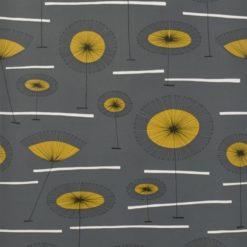 """Tapeta """"Kwiaty Łąki"""" w kolorze żółto-grafitowym"""