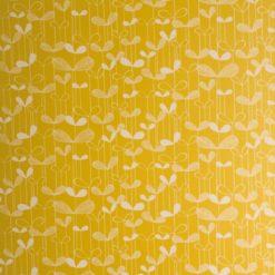 """Tapeta """"Listki Akacji"""" w kolorze żółtym"""