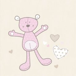Fototapeta Decoprint Young @ Home YH17962 Pluche Bear Soft Pink