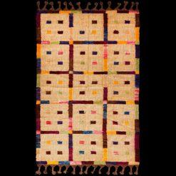 Dywan ręcznie tkany wełniany w kolorze beżowym