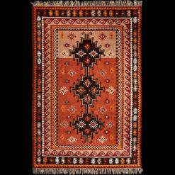 Dywan orientalny w kolorze czerwonym