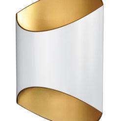 Kinkiet Section biało-złoty