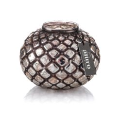 Lampion szklany Falguni Okrągły Aluro