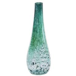 Szklany wazon turkusowy AGL0111