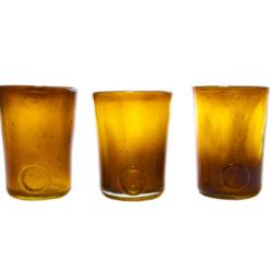 Zestaw 3 szklanek miodowe AGL0130