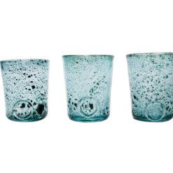 Zestaw 3 szklanek turkusowe AGL0131