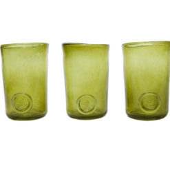 Zestaw 3 szklanek zielone AGL0132