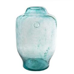 Szklane naczynie turkusowe AGL0171
