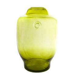 Szklane naczynie zielone AGL0172