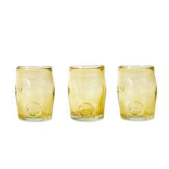 Zestaw 3 szklanek złote AGL0260