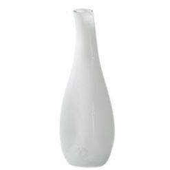 Szklany wazon biały AGL0270
