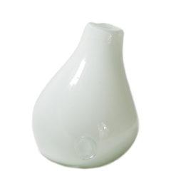 Szklany wazon biały AGL0280