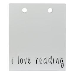Gazetownik I LOVE READING biały AMB0013