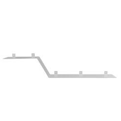 Półka metalowa Z biała ASH0051