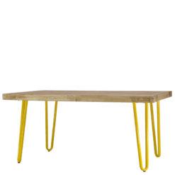 Stolik kawowy z żółtymi nóżkami FCT0011