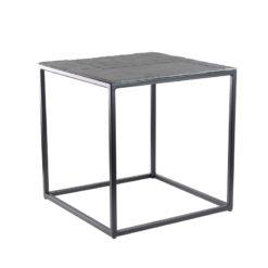 Kwadratowy szary stolik kawowy Zen z kamiennym blatem