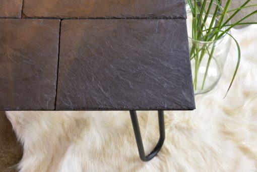 Gie El metalowy stolik kamienny blat