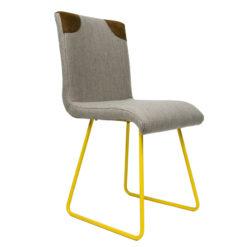 Krzesło na żółtych płozach FST0020