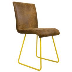 Krzesło na żółtych płozach FST0030