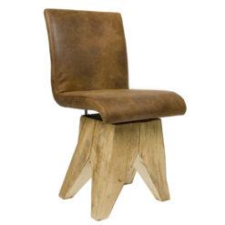 Krzesło na drewnianej podstawie FST0040