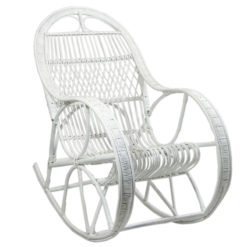 Fotel na biegunach biały FST0071