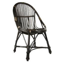 Wiklinowy fotel brązowy FST0080