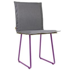 Krzesło gont na fioletowych płozach FST0143