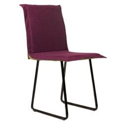 Krzesło gont na czarnych płozach FST0150
