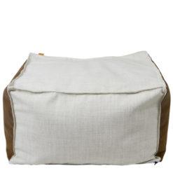 Puf biało-brązowy FST0170