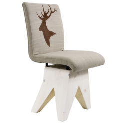 Krzesło z grafiką jelenia FST0190