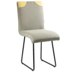 Szare krzesło na płozach FST0210