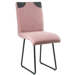 Różowe krzesło na płozach FST0212
