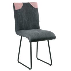 Czarne krzesło na płozach FST0213