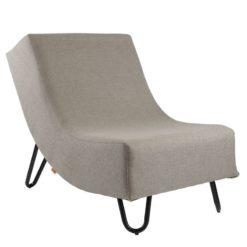 Rozłożysty fotel na stalowych nogach FST0230