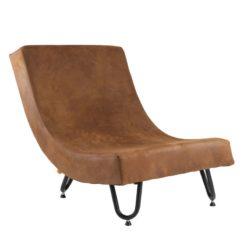 Rozłożysty fotel na stalowych nogach FST0231