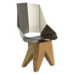 Stalowe krzesło na drewnianej bazie KINGHT big FST0322