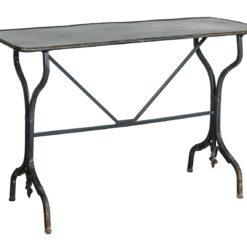 Metalowy czarny stół  w stylu loftowym