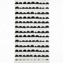 Tapeta Ferm Living Half Moon Black - tapeta dla dzieci