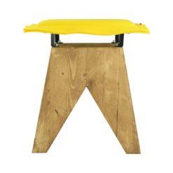 Stołek LOW z żółtym filcowym siedziskiem FST0015