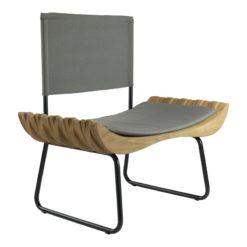 Fotel drewniany z szarym siedziskiem ORGANIQUE FST0281