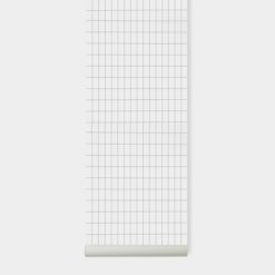 Tapeta Ferm Living Grid Black/White