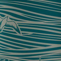 Tapeta marynistyczna ze statkami w kolorze turkusowym