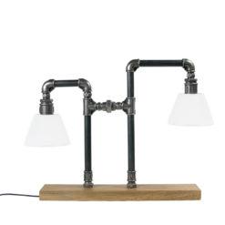 Podwójna lampa stołowa ze stali LGH0090