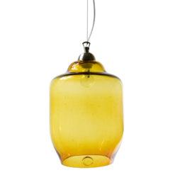 Duża lampa wisząca ze szkła