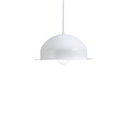 Lampa wisząca stalowa HAT biała LGH0144