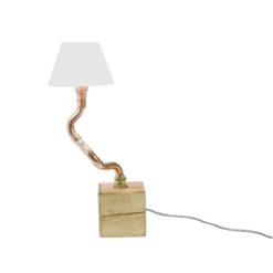 Lampa biurkowa na drewnianej podstawie LGH0211