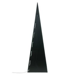 Geometryczna lampa podłogowa ze stali